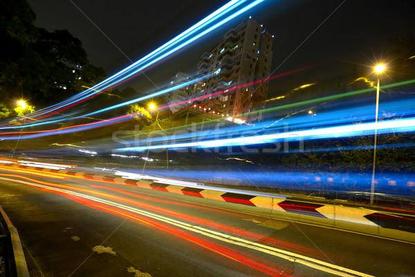 Сток-фото: свет · шоссе · бизнеса · дороги · город · аннотация