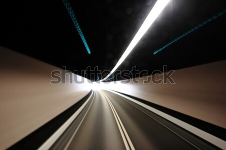 highway tunnel , motion blured Stock photo © leungchopan