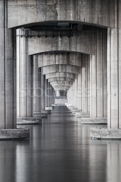 Under the highway and the sea Stock photo © leungchopan