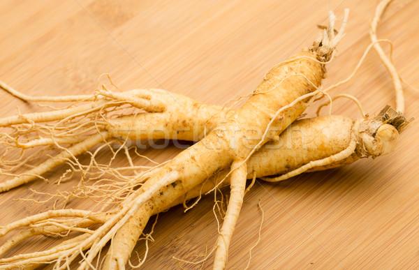 Ginseng alimentaire bois blanche Asie légumes Photo stock © leungchopan