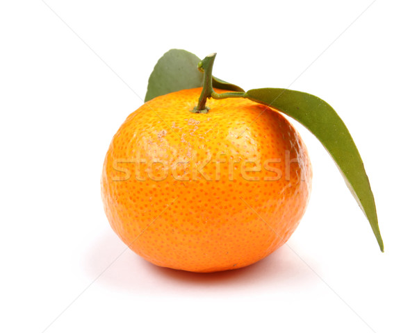 Orange mandarin with green leaf Stock photo © leungchopan