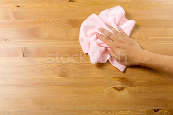 Stok fotoğraf: Temizlik · tablo · havlu · ev · adam · ev
