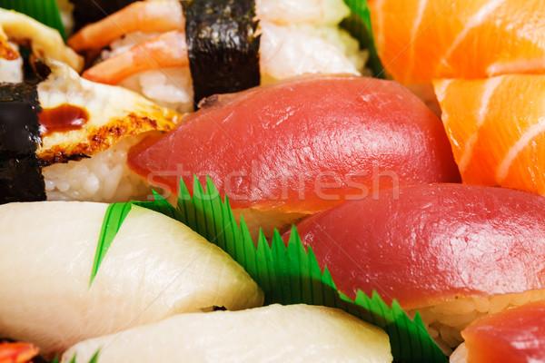 Japanese sushi bento box Stock photo © leungchopan