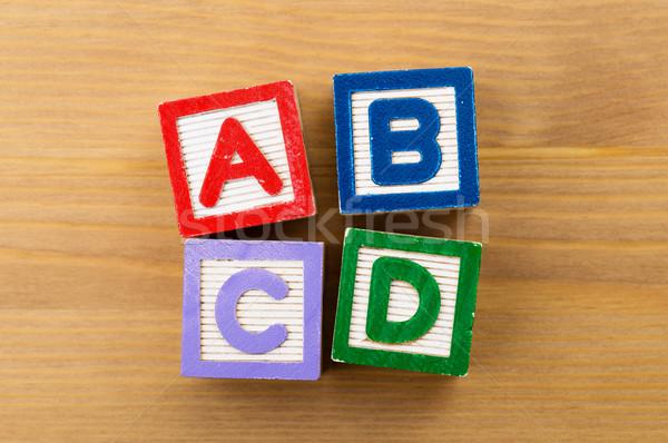 ABCD toy block Stock photo © leungchopan
