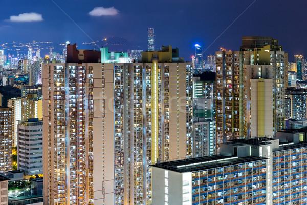 Stok fotoğraf: Hong · Kong · kompakt · hayat · Bina · şehir · manzara