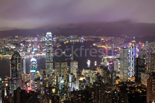 Hong Kong at night Stock photo © leungchopan