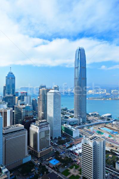 Гонконг бизнеса служба здании пейзаж стекла Сток-фото © leungchopan