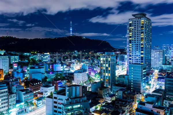 Urbano cidade Seul linha do horizonte arquitetura asiático Foto stock © leungchopan