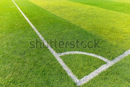 Campo de futebol grama branco linha textura esportes Foto stock © leungchopan