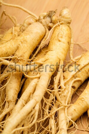 Ginseng alimentaire blanche Asie légumes saine Photo stock © leungchopan