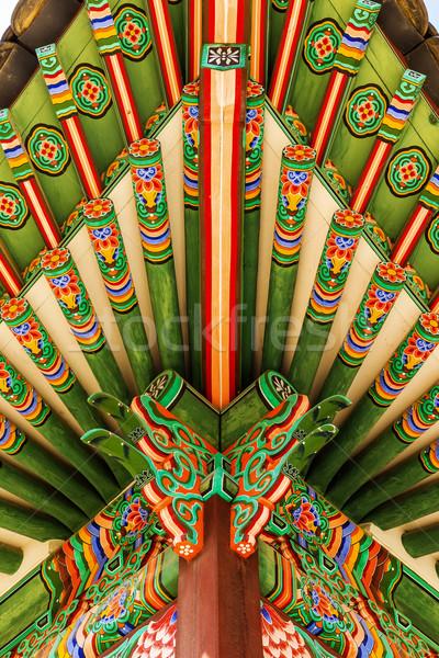 Tradycyjny malarstwo budynków domu projektu Zdjęcia stock © leungchopan