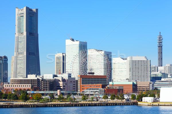 Иокогама город воды здании путешествия отель Сток-фото © leungchopan