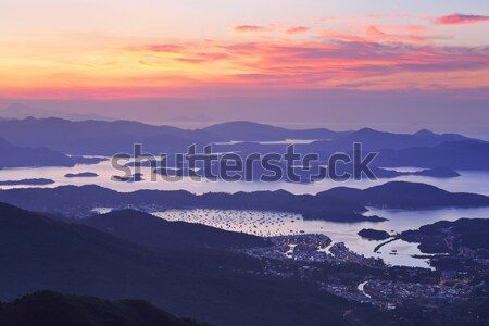Sai Kung at morning, Hong Kong Stock photo © leungchopan