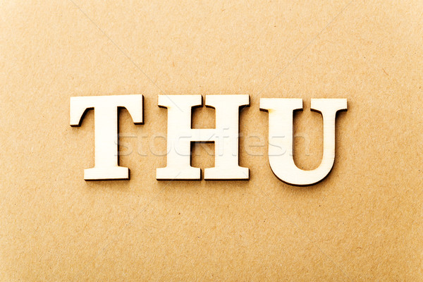 Wooden text for Thursday Stock photo © leungchopan
