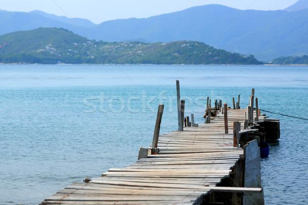Looking over a pier Stock photo © leungchopan