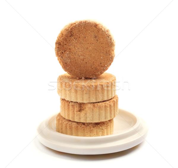 almond cake, macau style  Stock photo © leungchopan