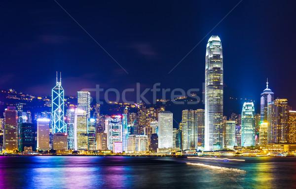 Hong Kong mojón negocios oficina edificio horizonte Foto stock © leungchopan