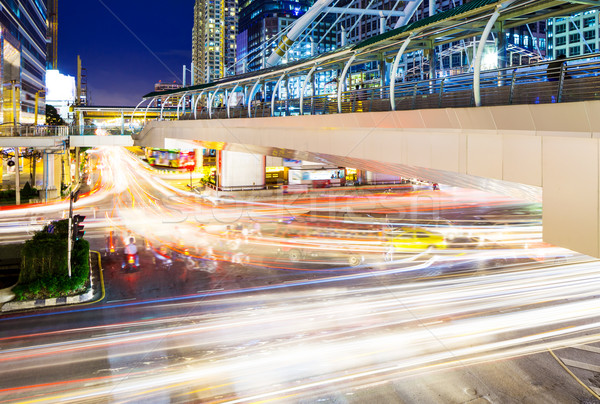 Bangkok miasta korku działalności drogowego budynku Zdjęcia stock © leungchopan