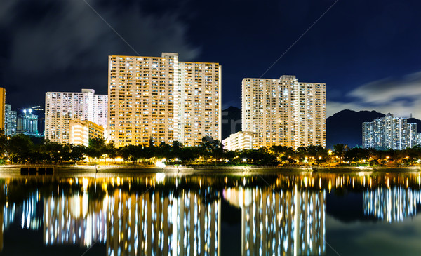 Public housing building in Hong Kong Stock photo © leungchopan