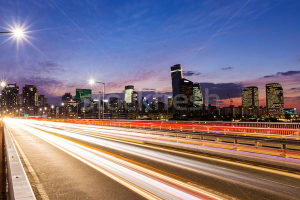 Busy traffic in modern city Stock photo © leungchopan