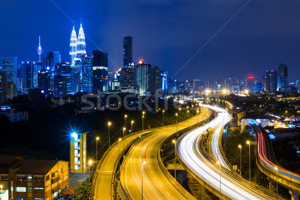 Kuala Lumpur city at night Stock photo © leungchopan