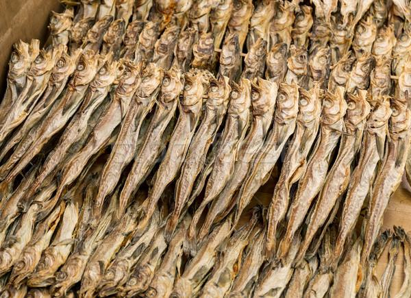 Salgado peixe comida mercado rei salmão Foto stock © leungchopan