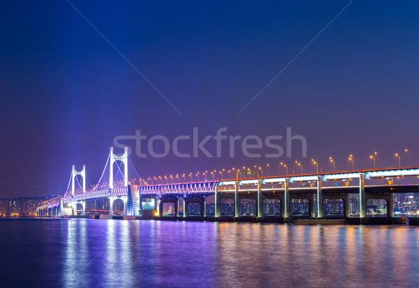 висячий мост воды дороги здании пейзаж моста Сток-фото © leungchopan