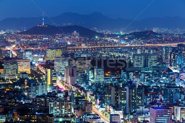 Centro da cidade linha do horizonte Seul cidade urbano torre Foto stock © leungchopan