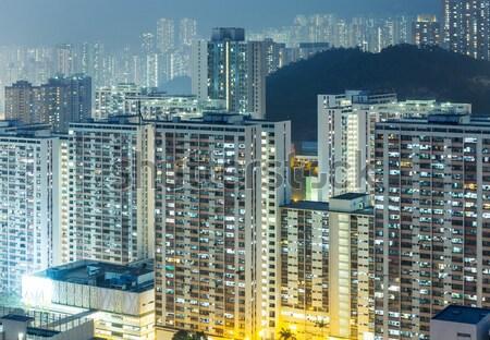 Public apartment at night Stock photo © leungchopan