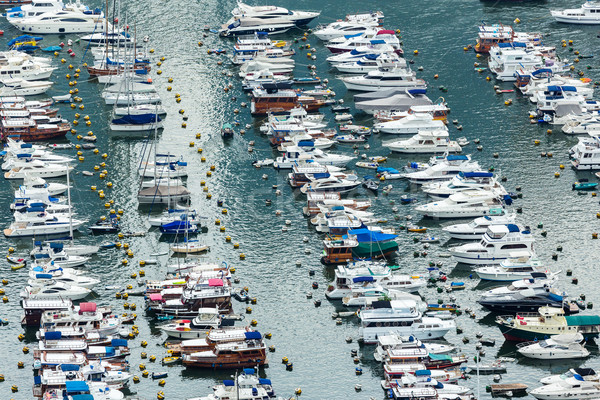 Aberdeen typhoon shelter in Hong Kong  Stock photo © leungchopan
