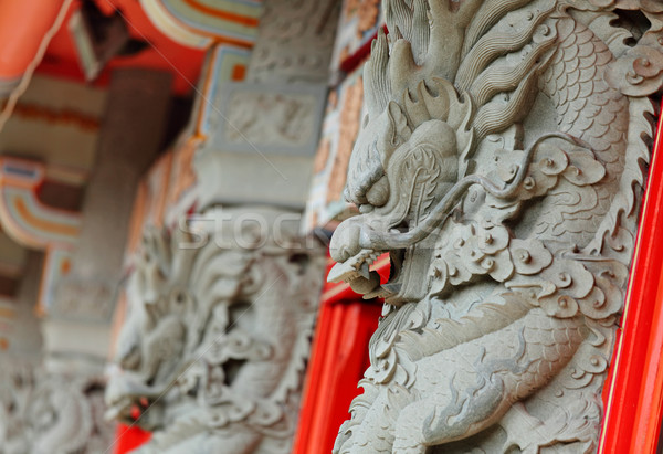 Stock photo: dragon statue in temple