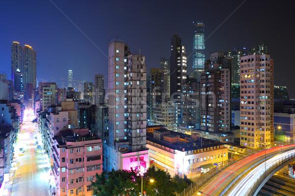traffic and highway at night Stock photo © leungchopan