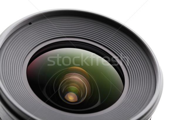 Kameralencse zöld film videó fekete elektronika Stock fotó © leungchopan