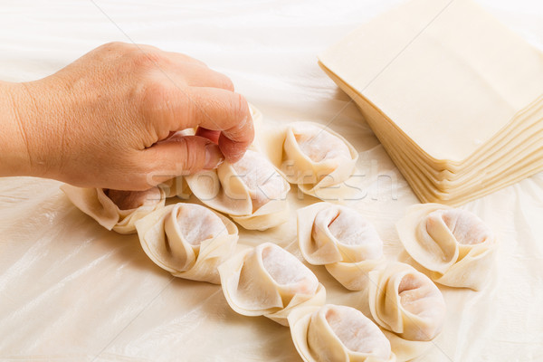 Homemade chinese dumpling Stock photo © leungchopan