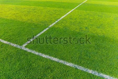 Futballpálya textúra fű futball futball háttér Stock fotó © leungchopan