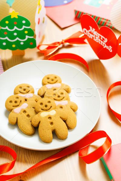 Gingerbread men Stock photo © leungchopan
