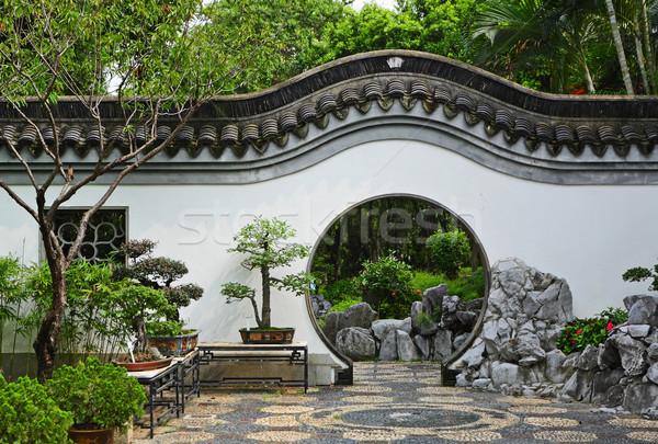 garden in chinese style Stock photo © leungchopan