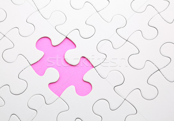 puzzle with missing piece Stock photo © leungchopan