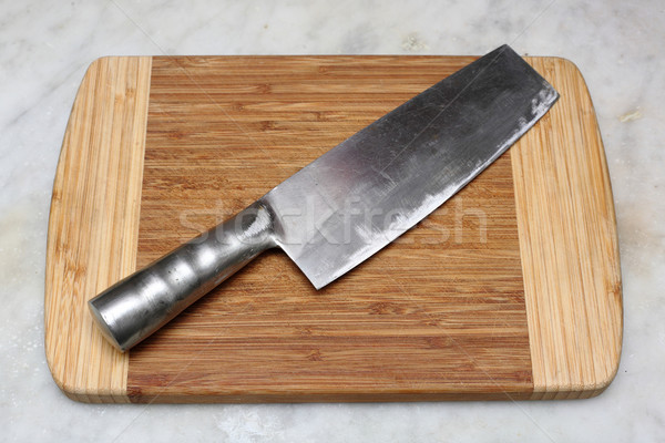 kitchen knife on cutting board Stock photo © leungchopan