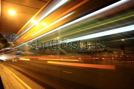 движения как город бизнеса свет улице Сток-фото © leungchopan
