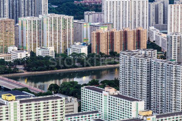 Publicznych obudowa Hongkong miasta domu miejskich Zdjęcia stock © leungchopan