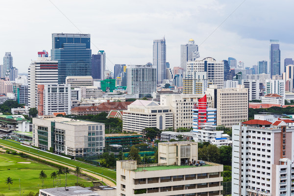 Bangkok stad gebouw skyline corporate wolkenkrabber Stockfoto © leungchopan