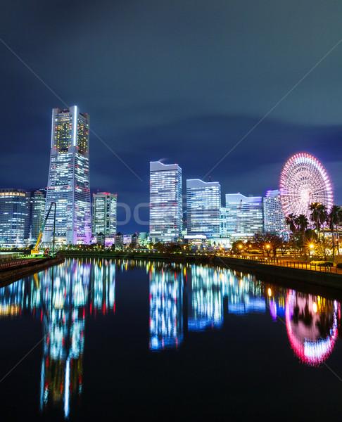 Иокогама Skyline ночь бизнеса здании морем Сток-фото © leungchopan