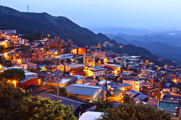 Köy gece Tayvan ev tepe Stok fotoğraf © leungchopan