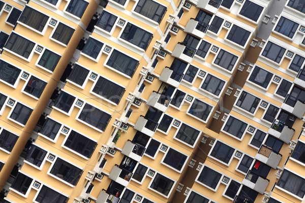 crowded apartment block Stock photo © leungchopan