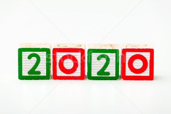 Wooden block for year 2020 Stock photo © leungchopan
