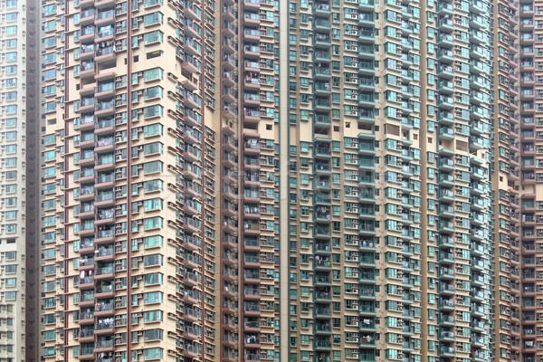 アパート 香港 市 壁 ホーム ウィンドウ ストックフォト © leungchopan