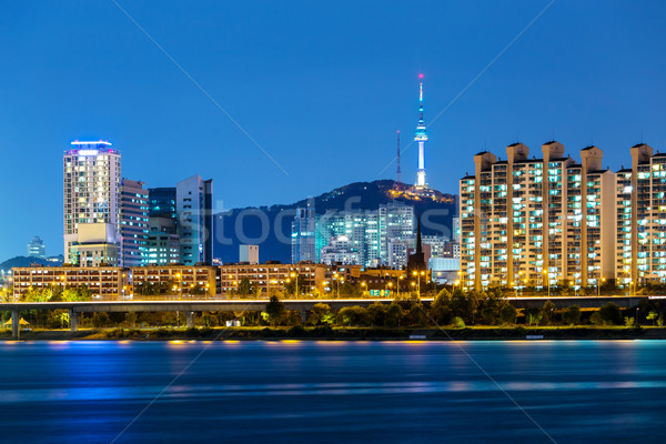 Сеул Cityscape Южная Корея здании горные городского Сток-фото © leungchopan