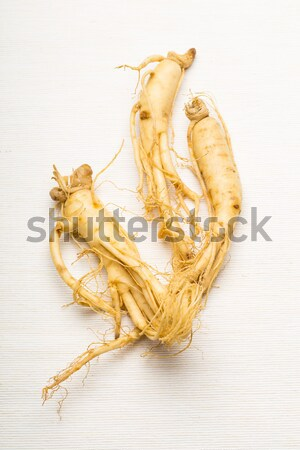 Fraîches ginseng blanche alimentaire Asie légumes Photo stock © leungchopan