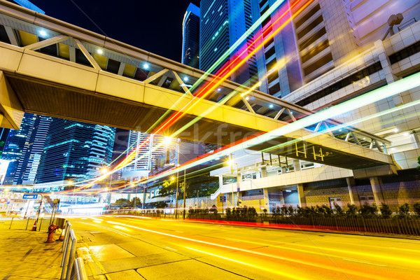 Hong Kong with busy traffic Stock photo © leungchopan